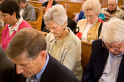 Image of people at church service