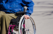 Image of man in a wheelchair