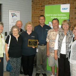 Image of pantry volunteers award with SKF, Inc.