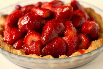 Image of homemade fresh strawberry pie